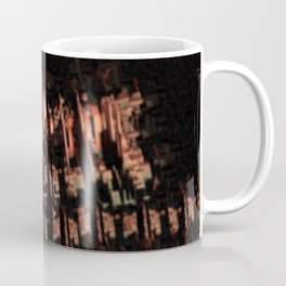 Cityscape technology microchip urban intricate pattern texture geometric background Coffee Mug
