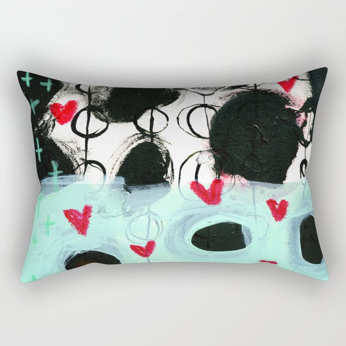 Falling Hearts Rectangular Pillow