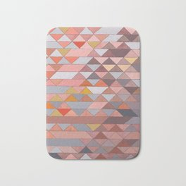 Triangle Pattern no.5 Gold, Pink and Brown Bath Mat