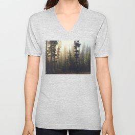 Sunrise Forest Unisex V-Neck