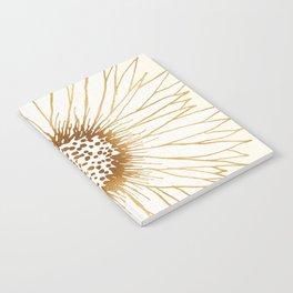 Gold Sunflower Notebook