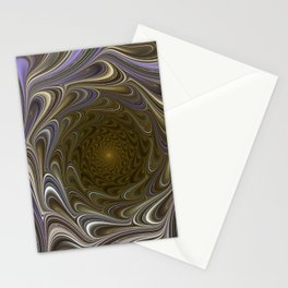Brown and Gold Marble Texture Pattern Cutest Stationery Cards