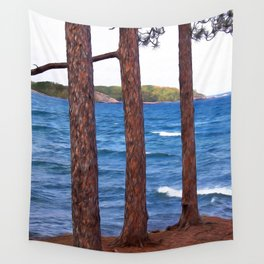 Lake Superior Landscape Wall Tapestry