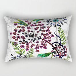 Weeds, Wishes & Dragonfly Kisses Rectangular Pillow