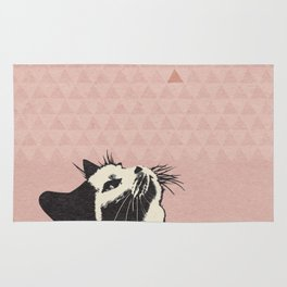 Cat on Pink - Lo Lah Studio Rug