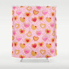 Valentine's day heart shaped cookies Shower Curtain