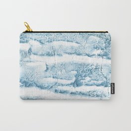 Blue marble streaked wash drawing Carry-All Pouch