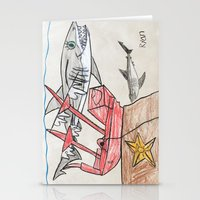 nursery Stationery Cards featuring Shark Nursery by Ryan van Gogh