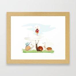 Ole ole caracoles Framed Art Print