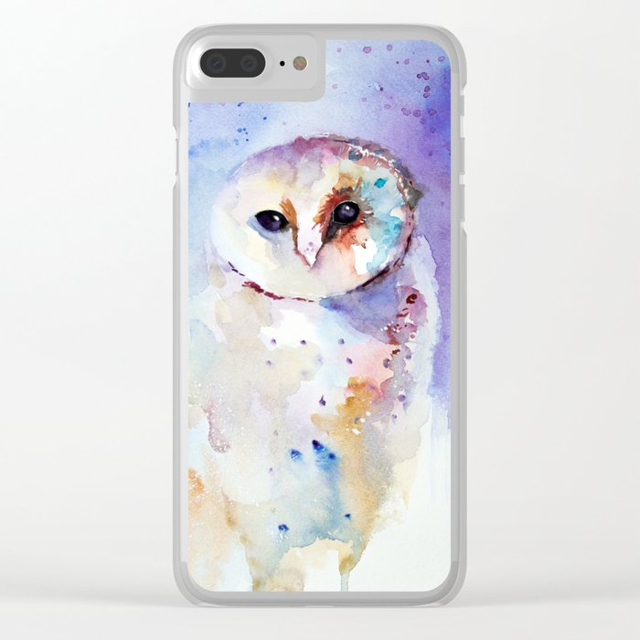wise owl Clear iPhone Case