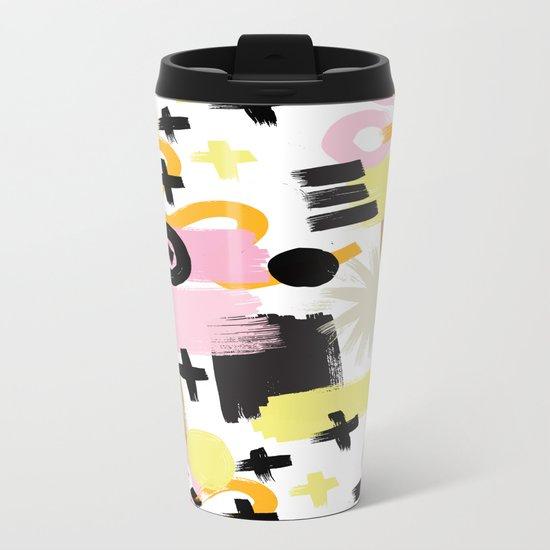 Perception Abstract 001 Metal Travel Mug