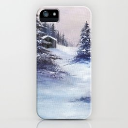 Serene Snow iPhone Case