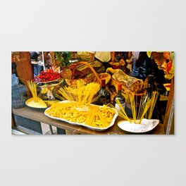 Pasta Display - Venice, Italy Canvas Print