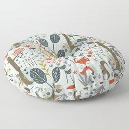 Rustic  Woodland Animals Floor Pillow