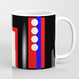 Traffic Jam - Abstract, minimalist, geometric, artwork in primary colours and black and white Coffee Mug