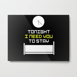 Bed Time Metal Print