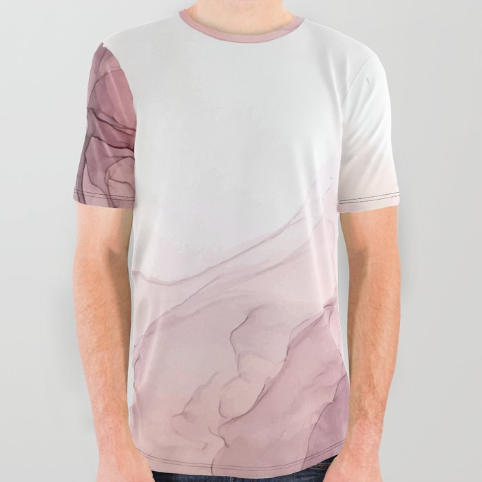 Blush and Blue Dream 1: Original painting All Over Graphic Tee