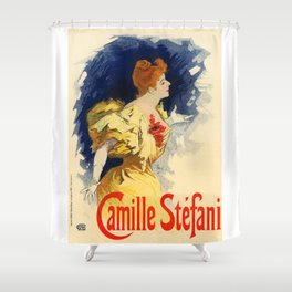 Belle Epoque vintage poster, Camille Stefani Shower Curtain