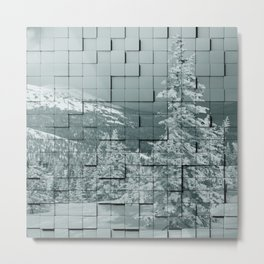 Winter collage Metal Print