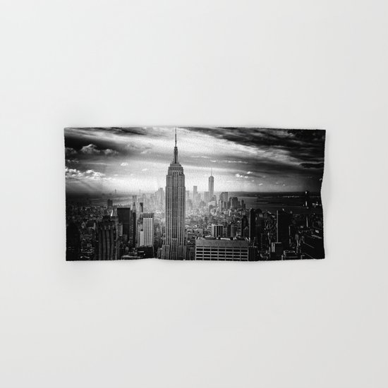 New york city black white 2 Hand & Bath Towel