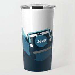 Jeep 'Driving' Blue Mountain Travel Mug