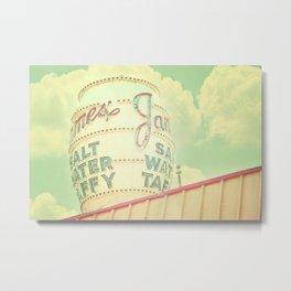 Vintage Sign Print, retro nursery decor, shabby chic, carnival print, vintage circus Metal Print