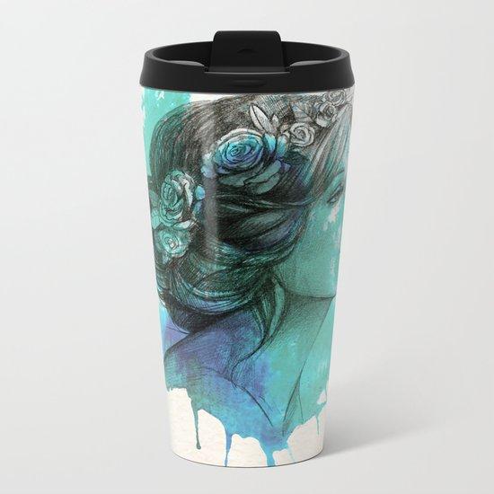 Watercolor elegence Metal Travel Mug
