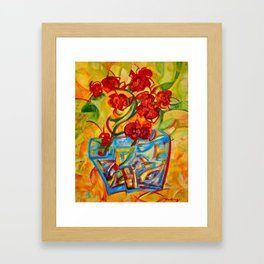 Warm Orchids Framed Art Print