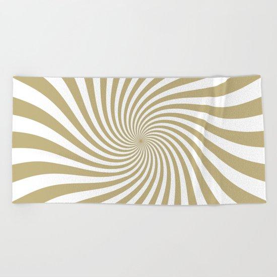 Swirl (Sand/White) Beach Towel