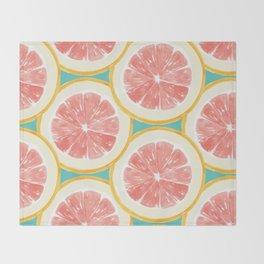 Grapefruit Pattern Throw Blanket