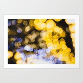 Magic lights Art Print