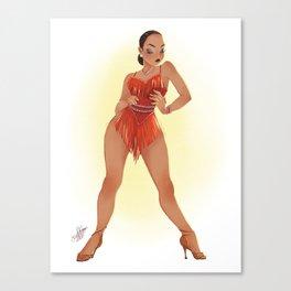 CHA CHA DANCER Canvas Print