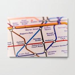 Going (London) Underground Metal Print