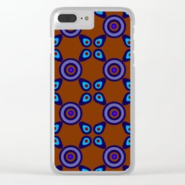 Terracotta Navy Clear iPhone Case