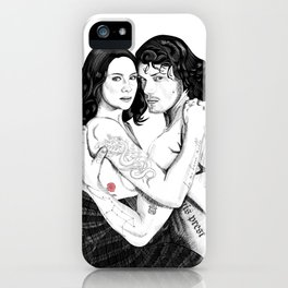 Jamie & Claire with Tattoos iPhone Case