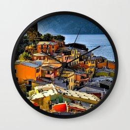 Cinque Terre Vernazza Village Mediterranean Coast, Italy 2 Wall Clock