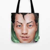 ace attorney Tote Bags featuring Ace Attorney by Cat Allen