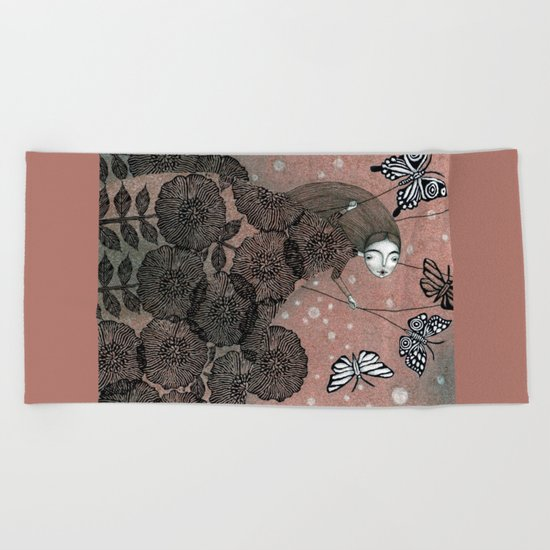 Night Garden (1) Beach Towel