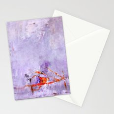 orange & dusty violet Stationery Cards