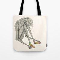 socks Tote Bags featuring Favorite socks by auntikatar