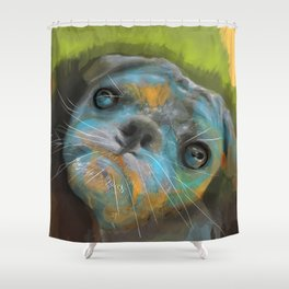 Marina's Little Bean  Shower Curtain