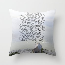 Always Before Me  |  Psalm 16:8-9 Throw Pillow