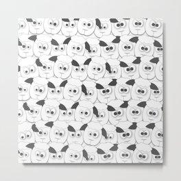 Crazy Herd of Sheep Metal Print