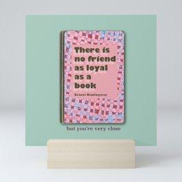 Ernest friendship aqua Mini Art Print