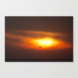 Into the Sunset. Canvas Print