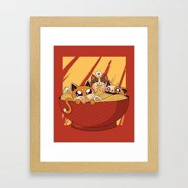 Noodles And Kittens Framed Art Print