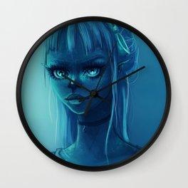 Neon Skies Wall Clock