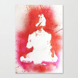 Buddha in White Canvas Print