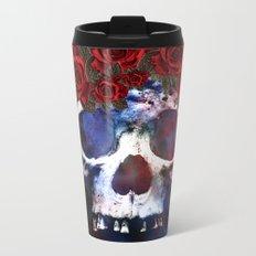 Red, White, and Blue Skull Metal Travel Mug