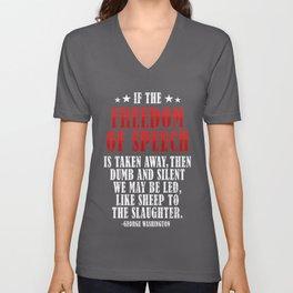 Freedom of Speech, George Washington Quote, Sheep, sheeple Unisex V-Neck